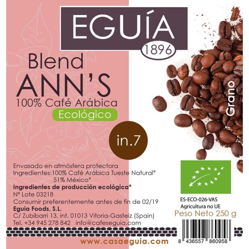 CAFÉ BLEND ANN´S ECOLÓGICO