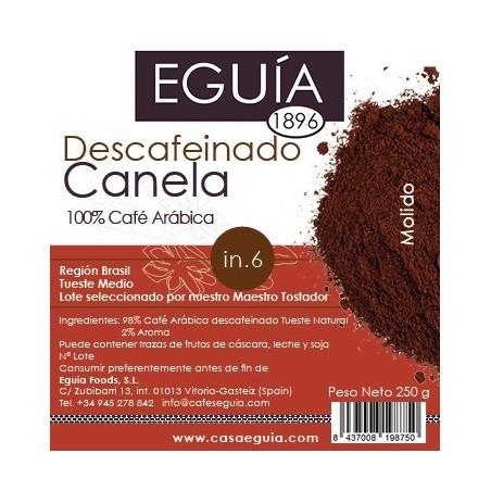 CAFÉ DESCAFEINADO CANELA