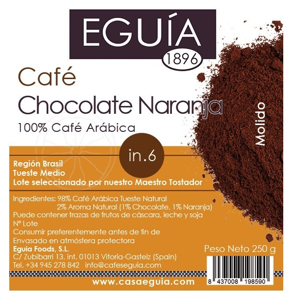 CAFÉ CHOCOLATE NARANJA