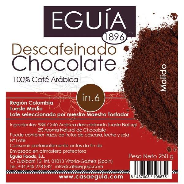 CAFÉ DESCAFEINADO CHOCOLATE